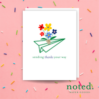 Paper Plane Thank You Card