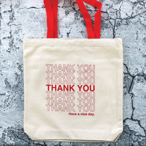 Thank You Tote Red Takeout Bag