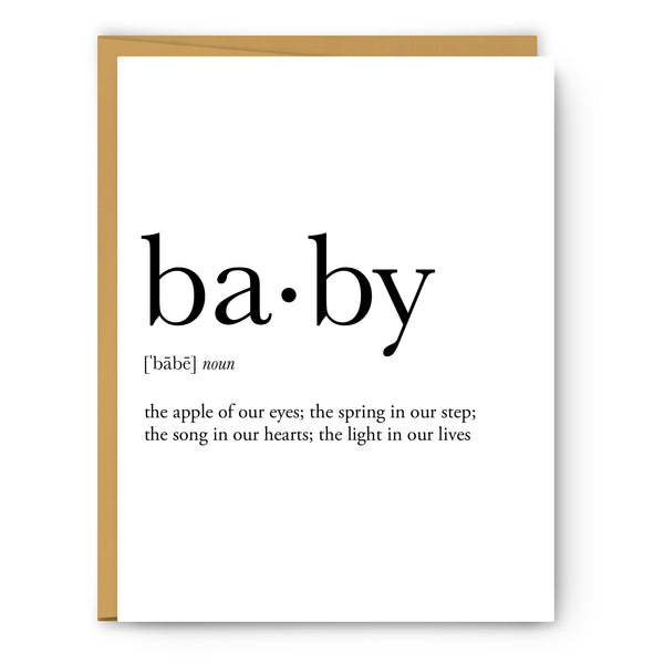 Baby Definition Greeting Card