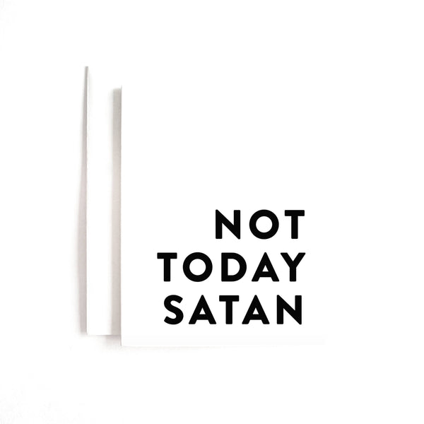 Not Today Satan Card