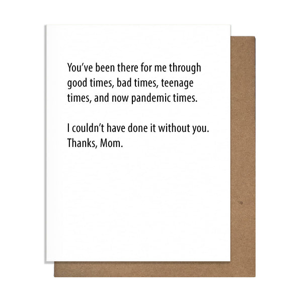 Times Mom Greeting Card