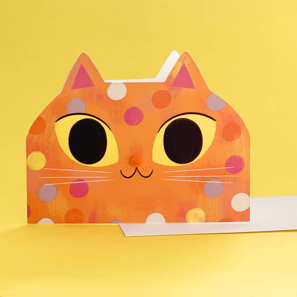Confetti Kitty Die-Cut Card