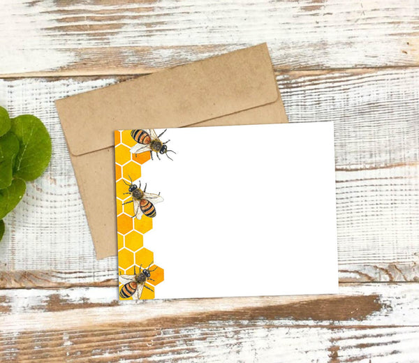 Honeybees Stationery Notecard Set