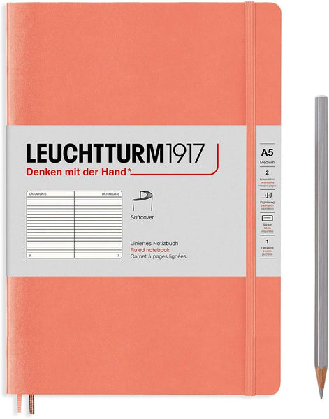 Leuchtturm1917 Medium A5 Softcover Notebook in Bellini
