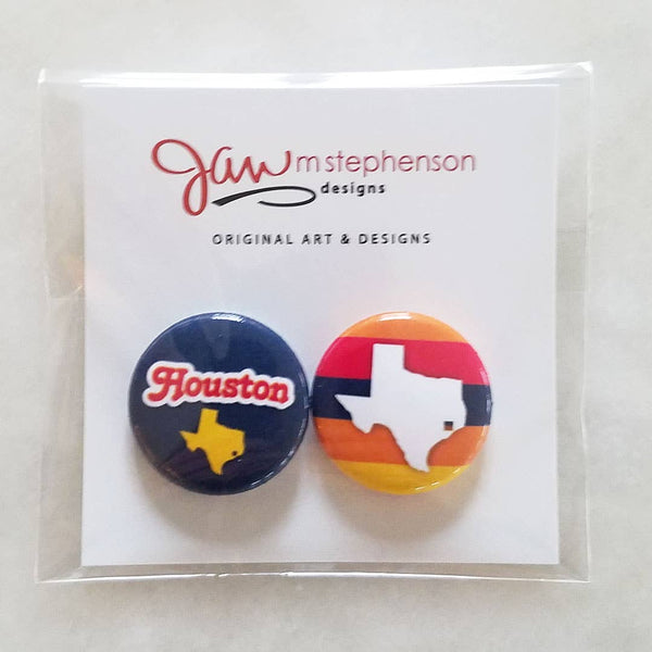 Houston Button Pins