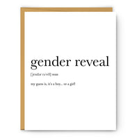Gender Reveal Definition Greeting Card