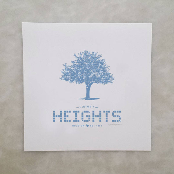 Heights Tile and Tree Print