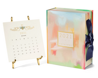 2021 Calendar with Gold Easel