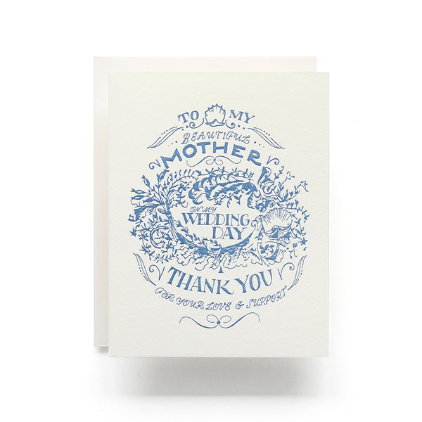 Wedding Day Crest Mother Greeting Card