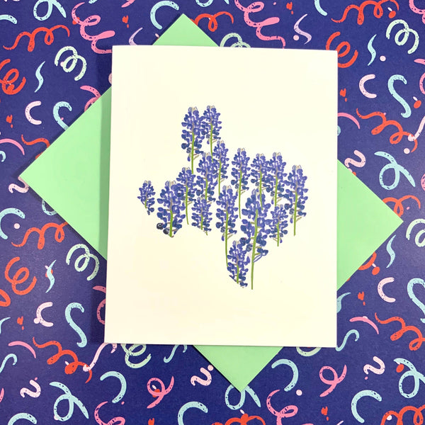Texas Bluebonnet Floral Card
