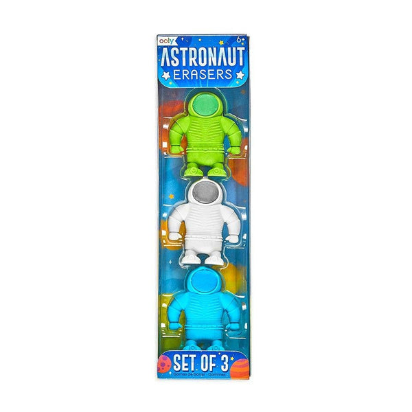 Astronaut Erasers Set of 3