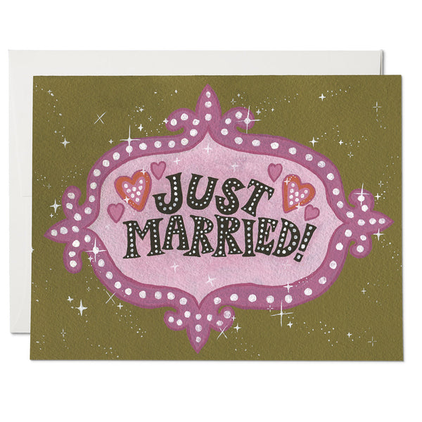 Vegas Just Married Wedding Card