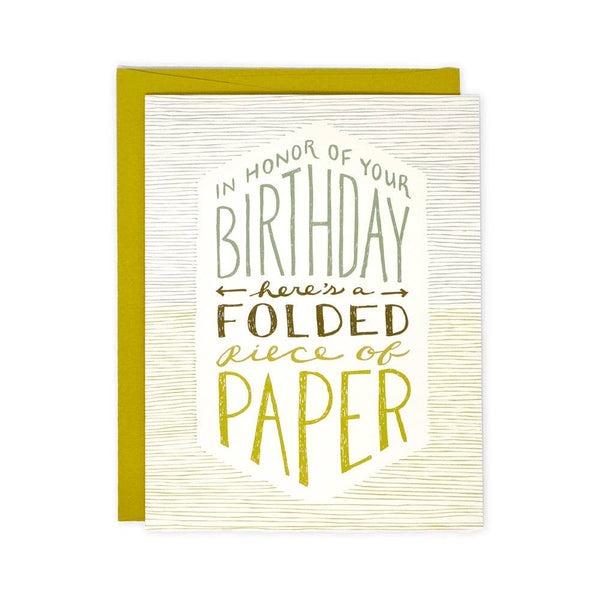 Folded Paper Birthday Card