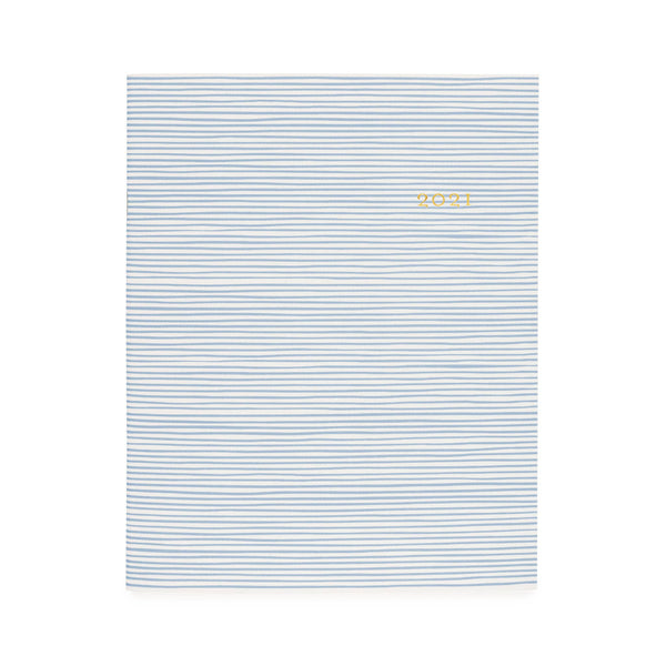 Blue Painted Stripe Monthly Planner 2021