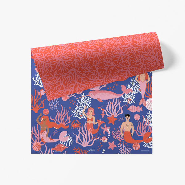 Sea of Love Gift Wrap Sheets - Set of 3