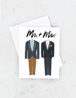 Groom and Groom Tuxedos Card