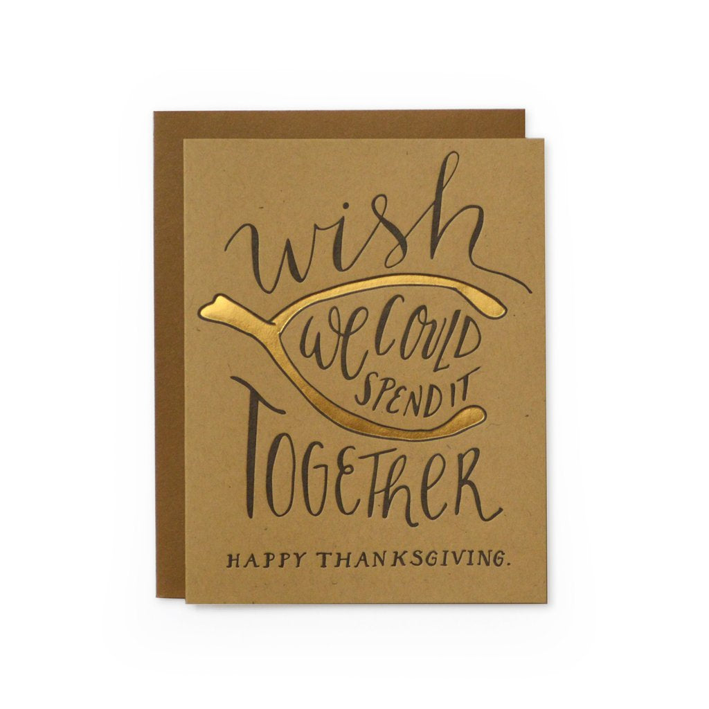 Wishbone Thanksgiving Greeting Card