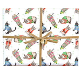 Merry Cats Gift Wrap Roll