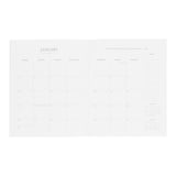 Cream and Black Dot Monthly Planner 2021