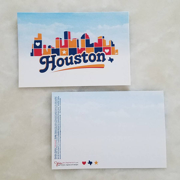 Houston Patchwork Postcard