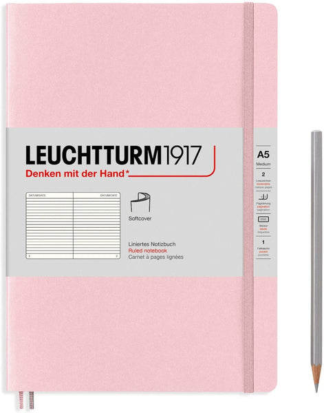 Leuchtturm1917 Medium A5 Softcover Notebook in Powder