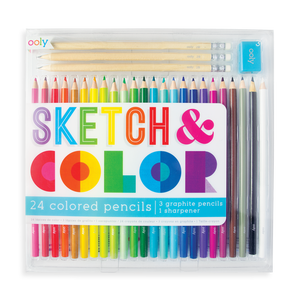 Sketch and Color Colored Pencils 28 Piece Set