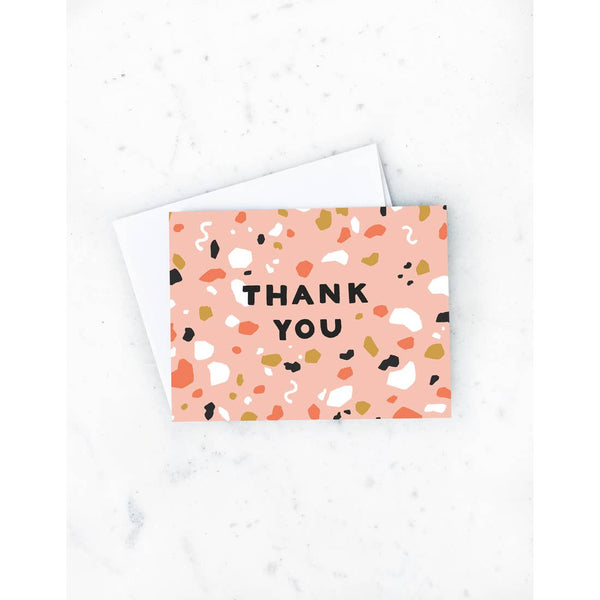 Terrazo Thanks Card Boxed Set of 8