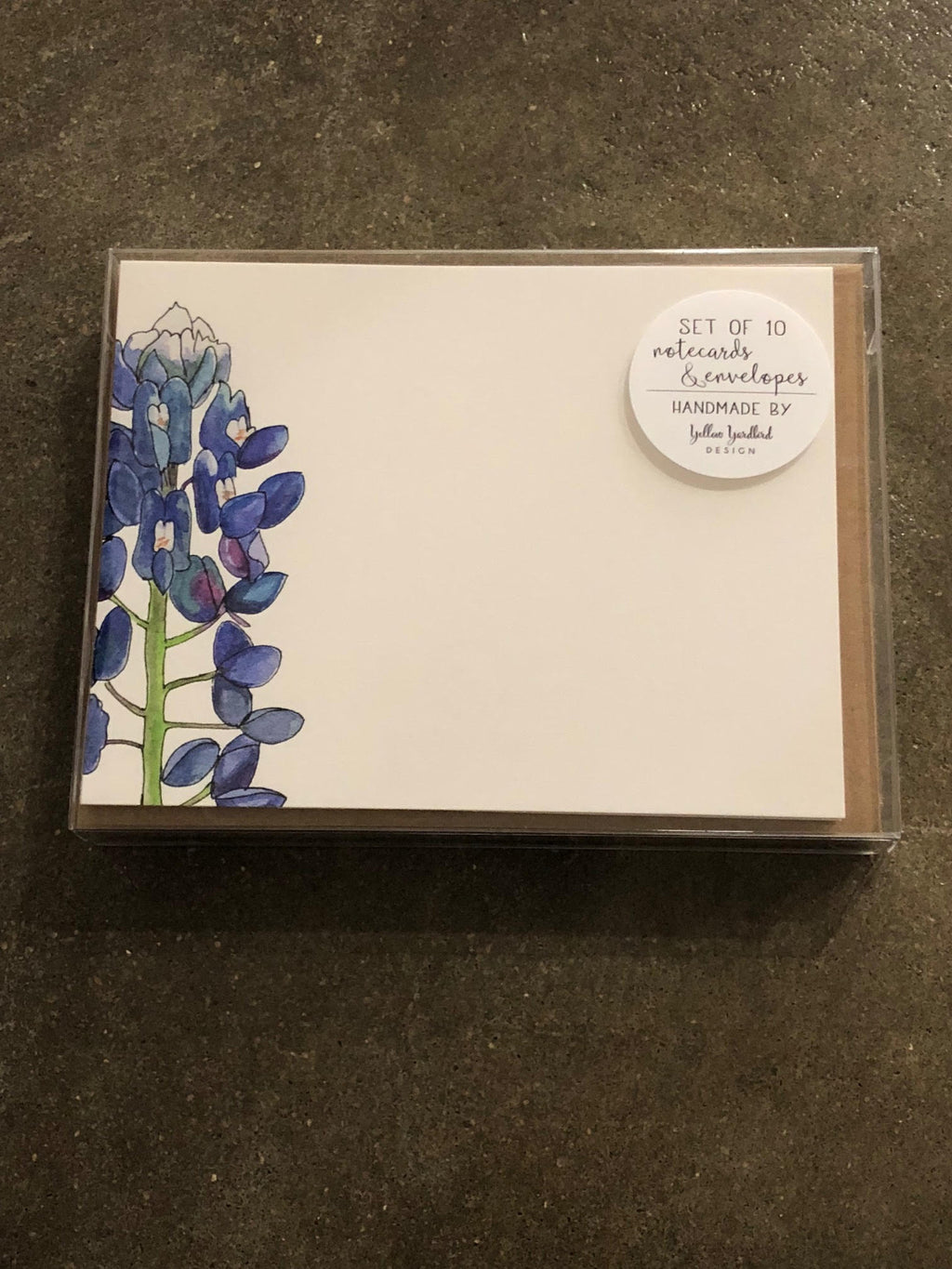 One Bluebonnet Notecard Set