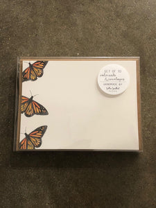 Monarch Notecard Set