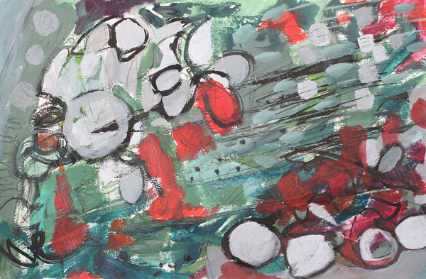 Beautiful Bounty - Original Abstract Painting on Paper