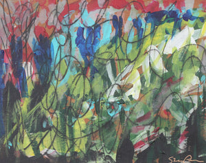 5 Measures of Prokofiev - Original Abstract Painting on Paper