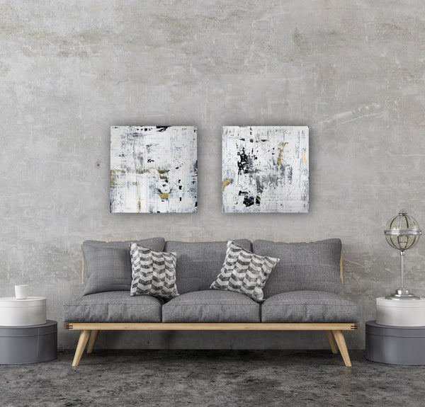 Daphnis and Chloe V - Original Abstract Painting on Canvas