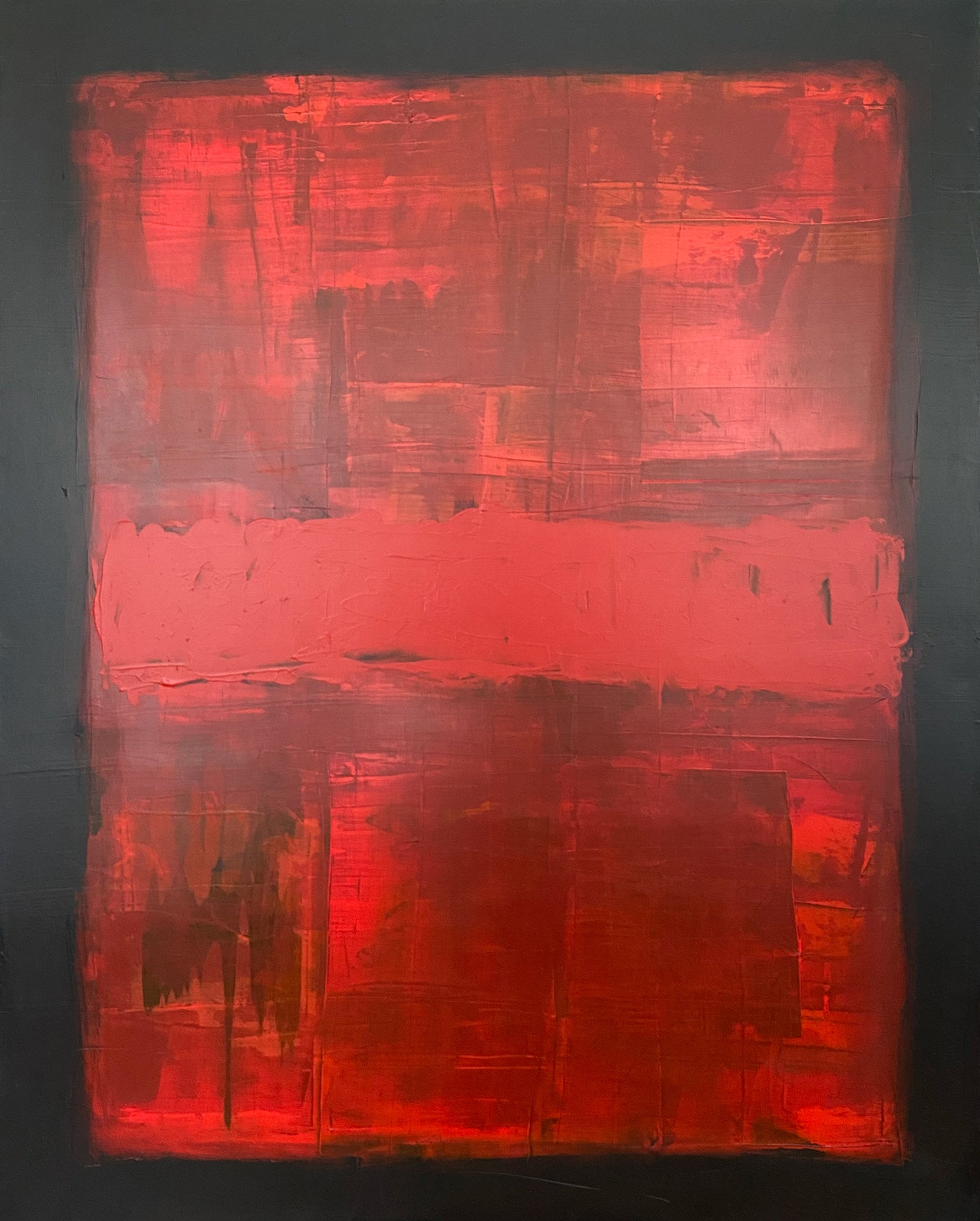 "Translation No. 5 of ""Nothing Else Matters"" (Metallica) - Original Abstract Painting on Canvas"