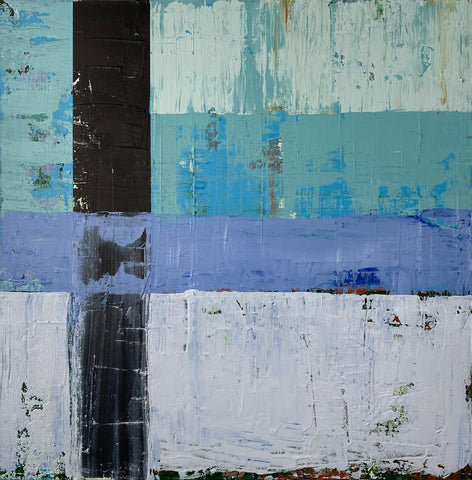 "Translation of ""White Ladder"" (David Gray) - Mixed media on canvas FSFA"