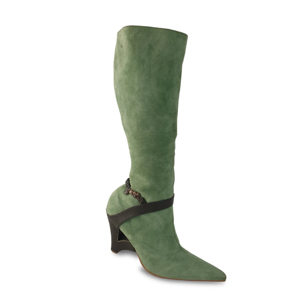 Eyato Akoko Knee High Boots - Green
