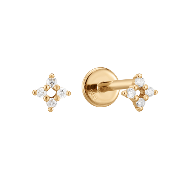 Piercing blume diamonds 14K