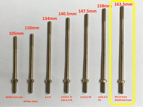 Pull Rod for W109.016, 6 -cylinder engine, Front Left and Right side, 163.5mm, A1123201389