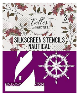 Nautical Silkscreen Stencil