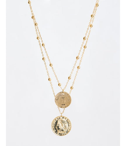 Set of necklace and earrings, coin collection - Lovinglam