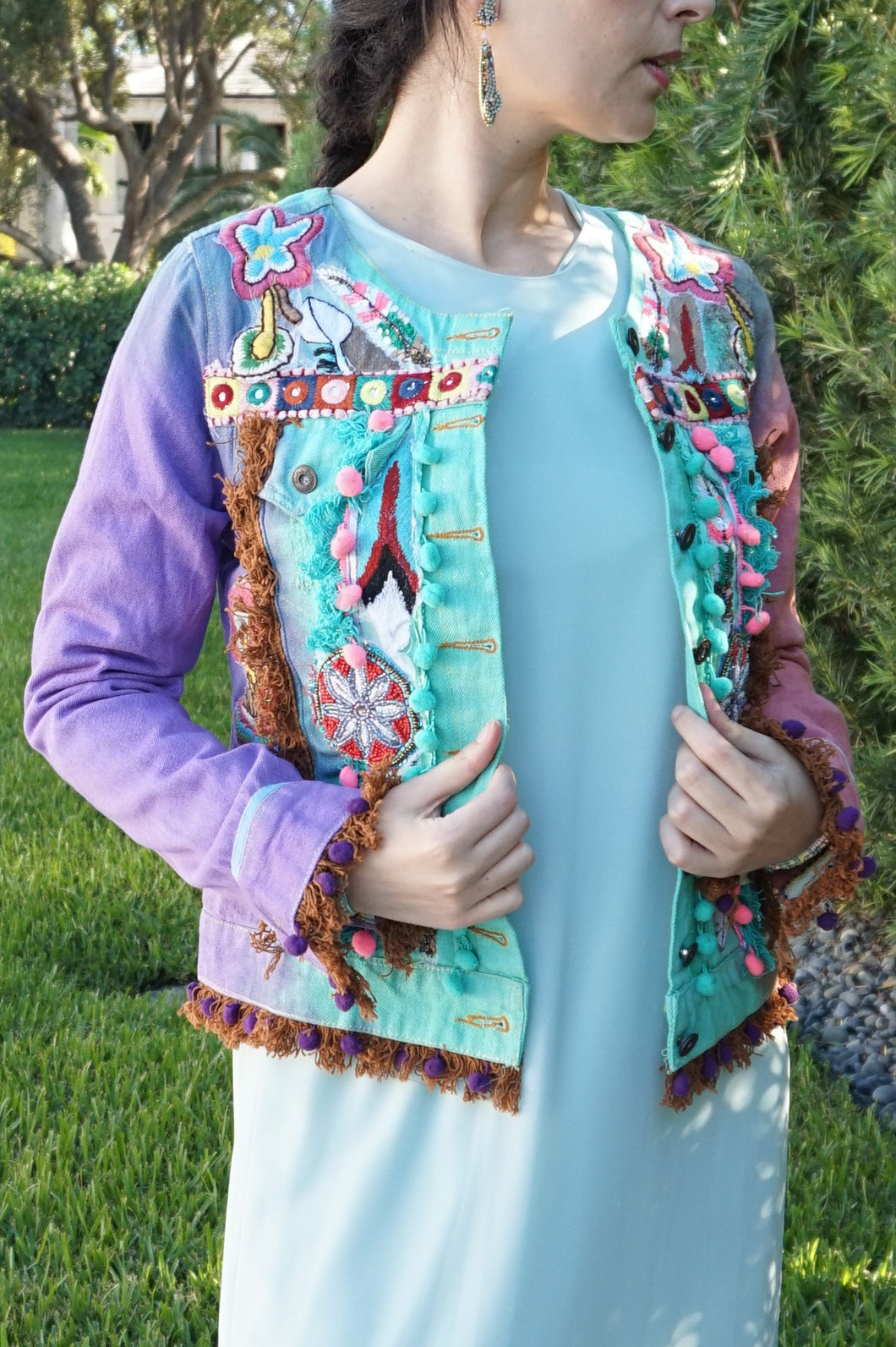 Tie dye denim jacket - Lovinglam