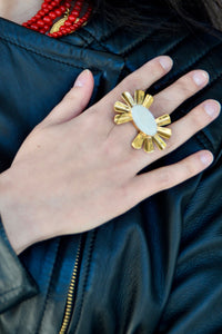 Mother of pearl ring - Lovinglam