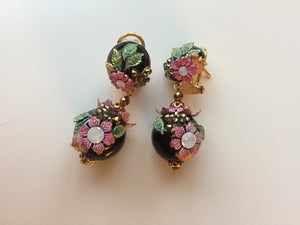 Flower enamel earrings - Lovinglam