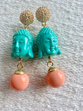 Load image into Gallery viewer, Buddha turquoise earrings - Lovinglam