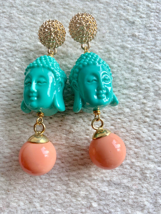 Buddha turquoise earrings - Lovinglam