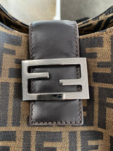 Load image into Gallery viewer, Fendi Zucca Leather Trim Shoulder Bag