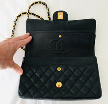 Load image into Gallery viewer, Chanel Medium Double Flap Caviar