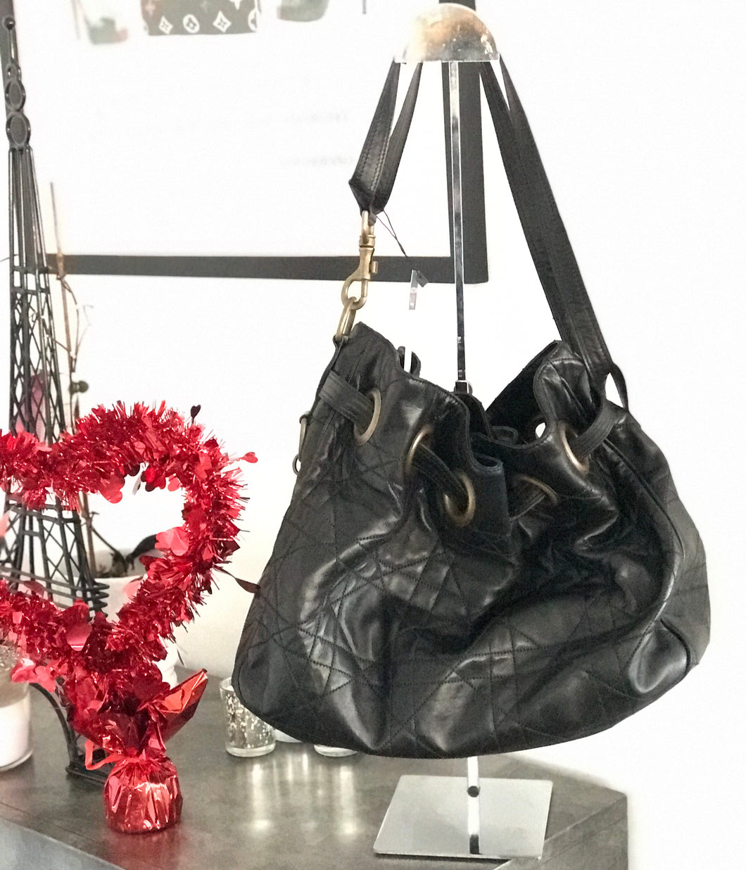 Dior Lambskin Cannage Quilted Handbag