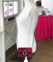 Load image into Gallery viewer, Gucci Dionysus GG Velvet Super Mini Red Shoulder Bag