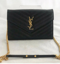 Load image into Gallery viewer, YSL Matelasse Monogram Wallet on Chain