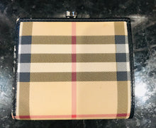 Load image into Gallery viewer, Burberry Check Clasp Wallet